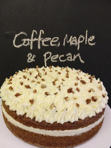 Coffee maple and pecan cake