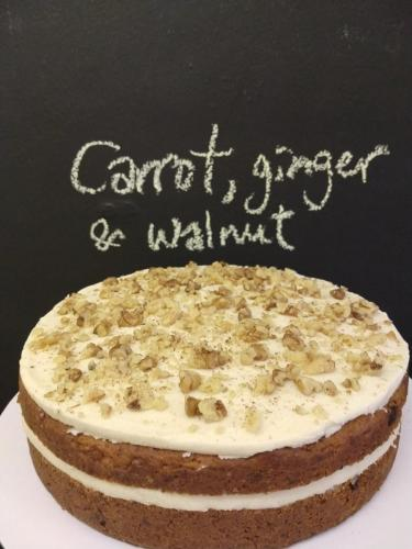 Carrot ginger and walnut