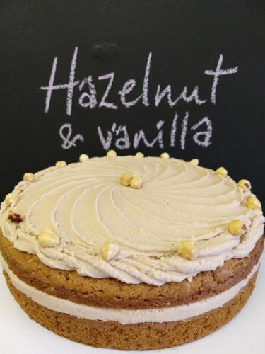 Hazelnut and vanilla cake