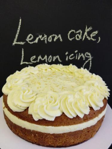Lemon cake with lemon icing