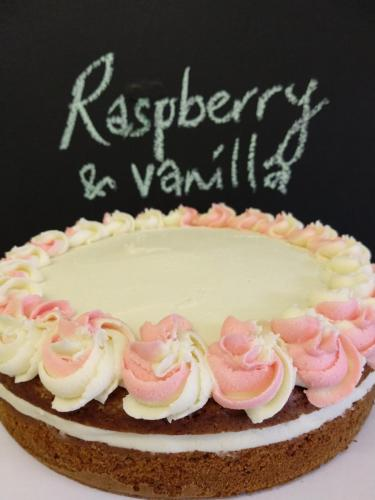 Raspberry and vanilla cake