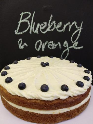 Blueberry and orange cake