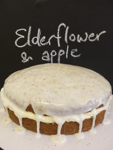 Elderflower and apple cake