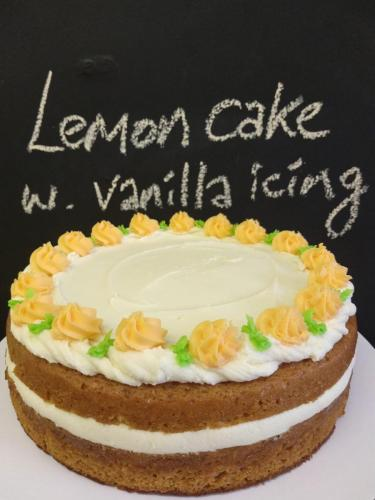 Lemon cake with vanilla icing
